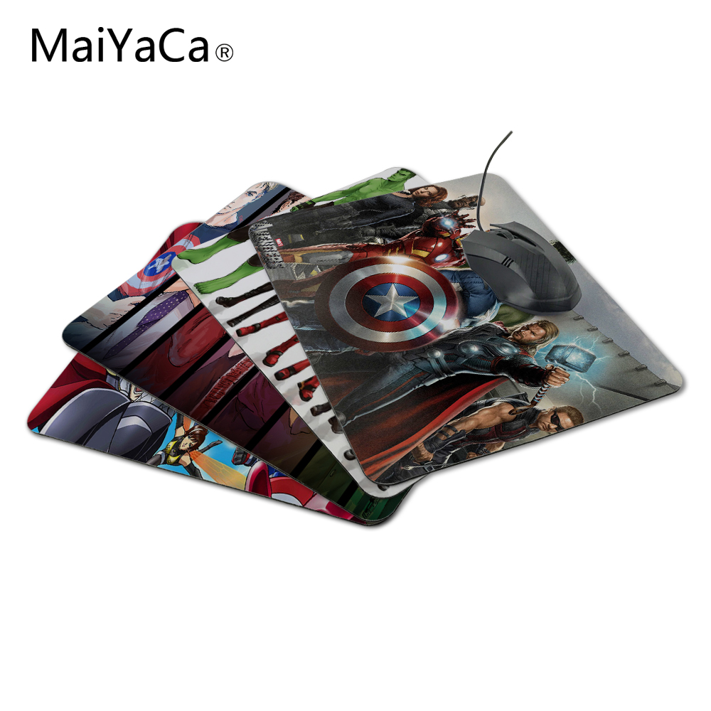 MaiYaCa Cartoon Anime The Avengers with Box  Packed Silicon Gaming Mouse Pad 180x220x20mm Not Lock Edge Mouse pad