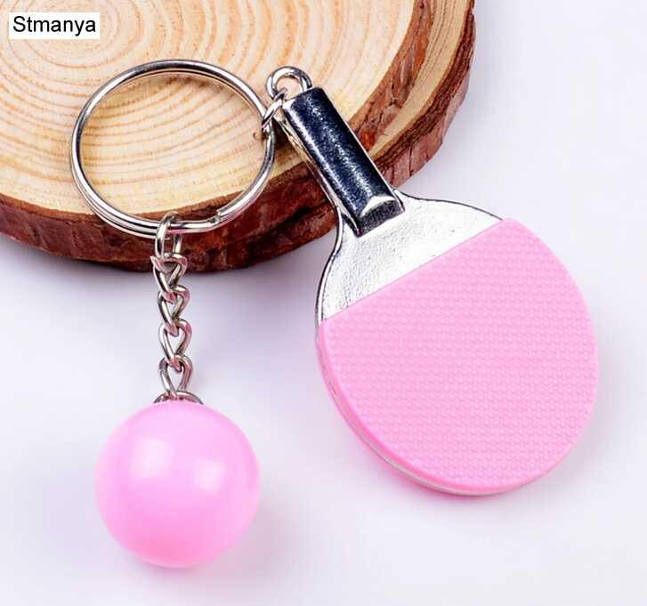 7 colores deporte Ping Pong Mesa pelota de tenis de bolos de bádminton bola llavero anillo de recuerdo Regalo 1-17222