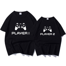 Moda de verano pareja camiseta Tops mujeres hombres manga corta Camisetas para jugador amante carta imprimir camiseta Tops Camisetas tops