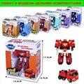 8 unids/lote tobot transformación robot coche de dibujos animados de corea tobot car toys niños vehículo toys regalo caja al por menor