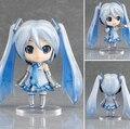 NUEVA caliente 10 cm versión Q Hatsune Miku muñeco de nieve movable figura de acción juguetes muñeca de juguete de colección de navidad con la caja
