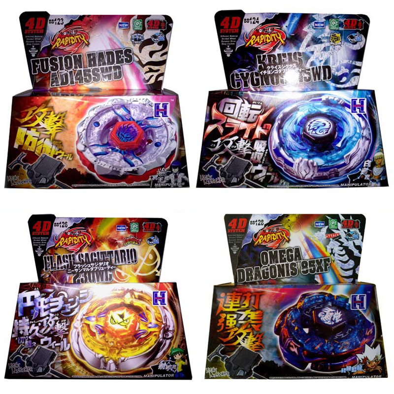 Spin hauts éclater jouets métal Fusion 4D Bayblade avec lanceur toupie ensemble filature maîtres jouet pour enfants # B