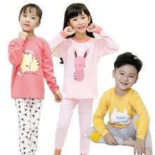 702f29238a5c Spring Baby Children Pajamas Clothing Set Sleepwear Cartoon Autumn Thermal  Underwear Boys Girls Kids Pyjamas Nightwear
