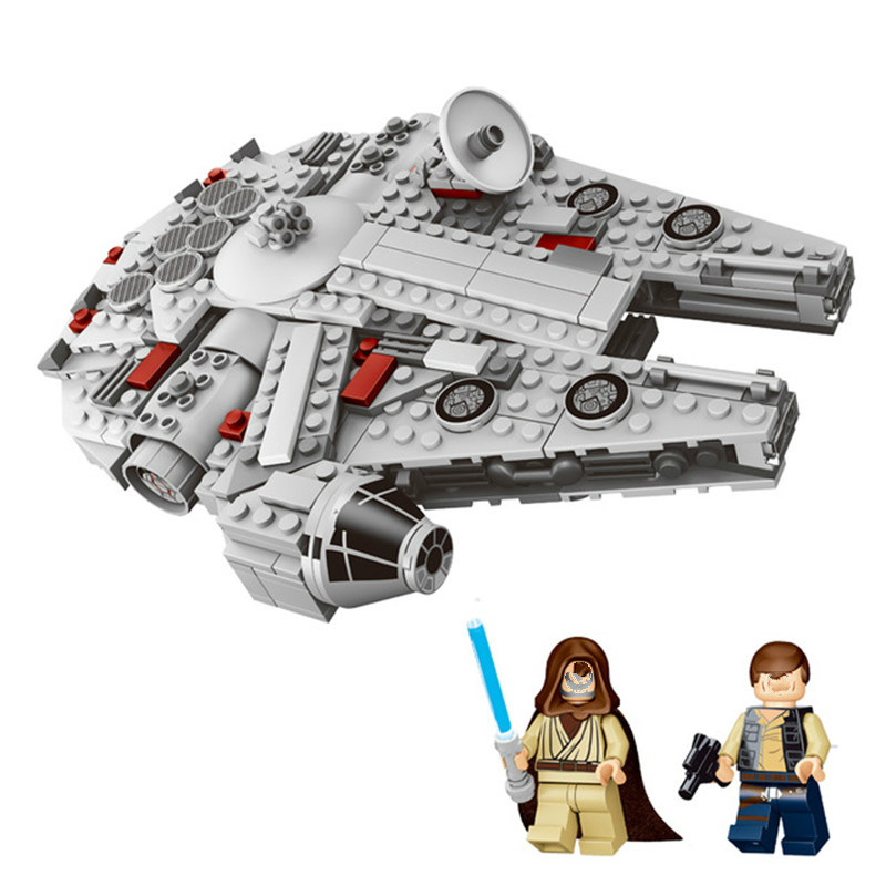 Star Wars Millennium Falcon Building Blocks Set Legoings Star Wars Figure Bricks Toys Model 367 Pcs Kids Birthday Gift pudcoco baby girls dress toddler girls backless lace bow princess dresses tutu party wedding birthday dress for girls easter