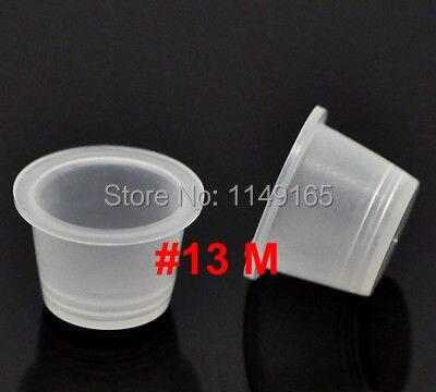 Hot SALE 100pcs Plastic Tattoo Ink Cups Caps SMALL #13 Tattoo Supplies