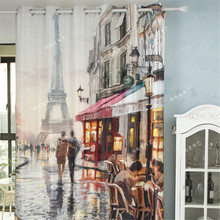 Blackout curtains fabric 3d curtains for living room ready made blinds Christmas window curtains kids room curtains tulle drapes