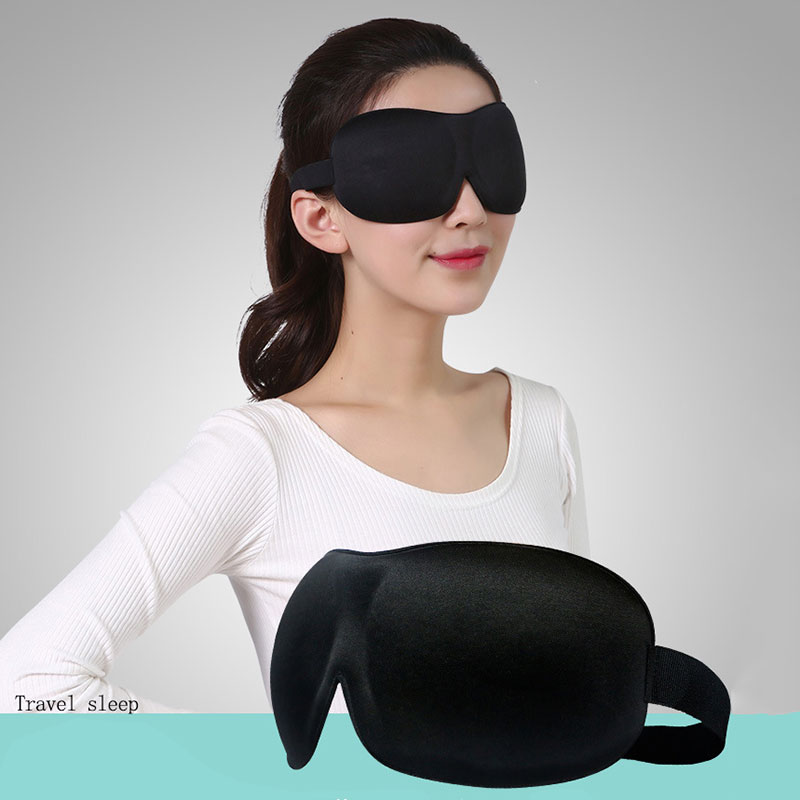 3D Eye Mask Sleep Soft Padded Shade Cover Rest Relax Sleeping Blindfold Practical Travel Sleeping No Lights Breathable  Eyes Pad