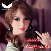 2016 New WMDOLL 153CM Oral head No.98 cutey girl sex doll sex for men Small Breasted doll with skeleton