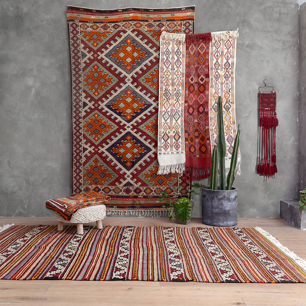 Vision goût dinde laine tissage manuel Nation vent système continu mélange invité Hall Collection tapis Tapestrygc193kilimyg40