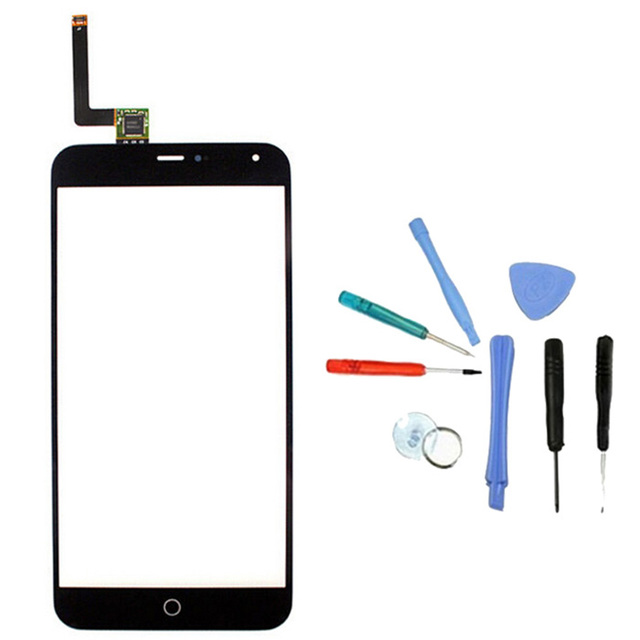 LINGWUZHE 5.5 inch Touch Screen Digitizer Glass Panel + Repair ToolKit For Meizu Meilan M1 Note
