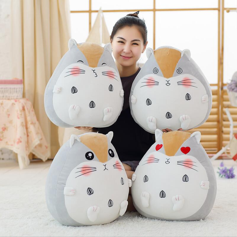 50cm super cute plush toys Totoro pillow cute fat Totoro nap pillow as a gift to the office of children and friends 40cm super cute plush toy panda doll pets panda panda pillow feather cotton as a gift to the children and friends