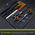 "6"" hair scissors black barber set clippers barber thinning scissors hairdressing kits professional barber kit for hairdressers"
