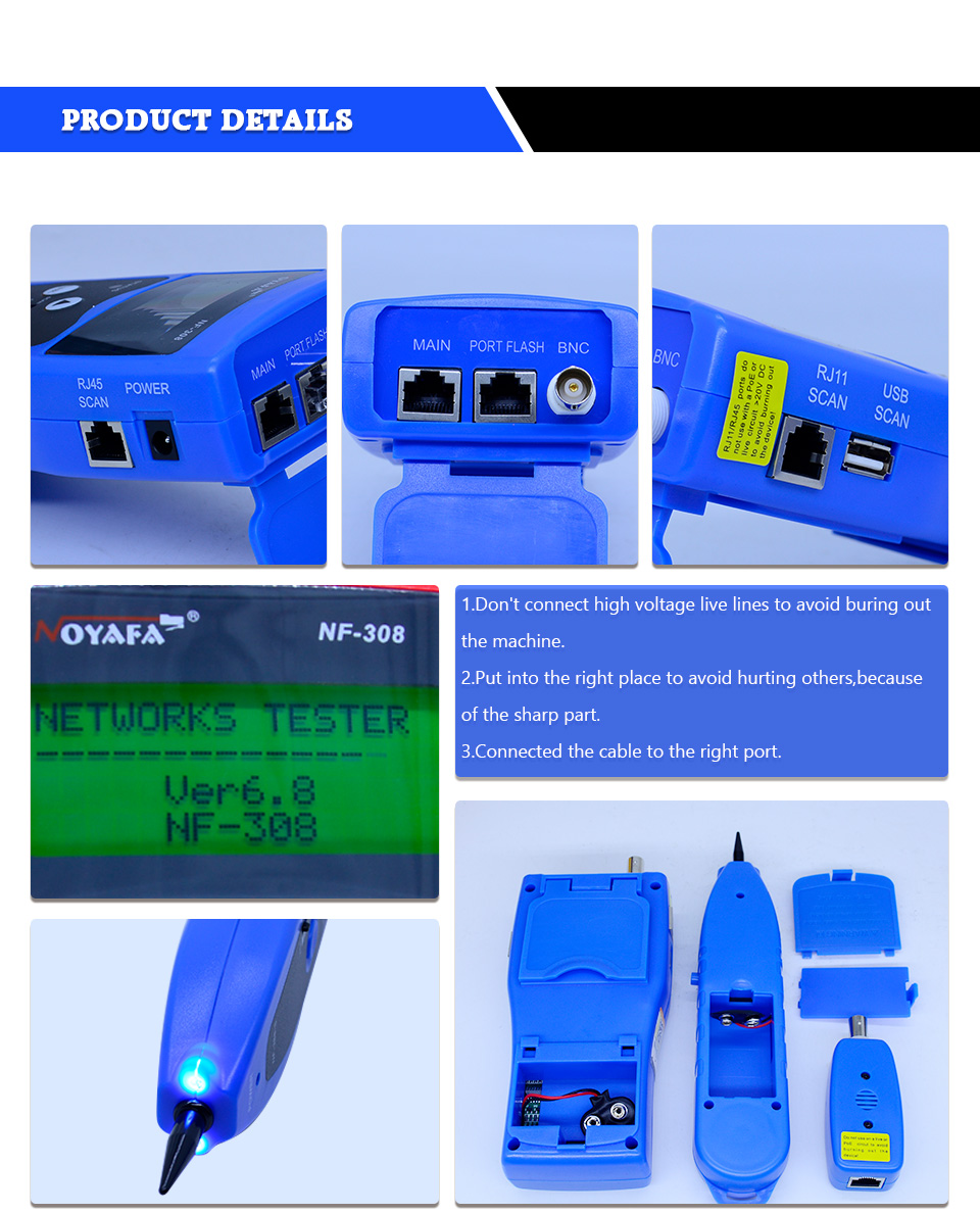 Lcd Wire Fault Locator Nf 308 Blue Color Coacial Bnc Usb Lan Cable Live Circuit Tracer 1 We Accept Alipay West Union Tt All Major Credit Cards Are Accepted Through Secure Payment Processor Escrow