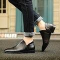 Hot Sale New Men Oxfords Shoes White PU Leather Oxfords Shoes for Men Dress Flats Shoes 2016 Fashion Wedding Shoes Size 39-44
