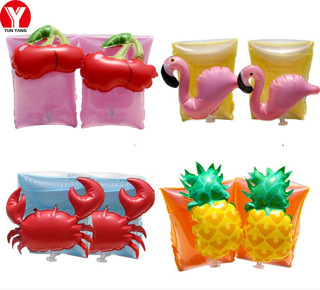 Baby Swimming Arm Ring Flamingo Kids Safety Swimming Arm Floats Inflatable Armlets Kids Swim Arm Floats Armbands Swimming Toys