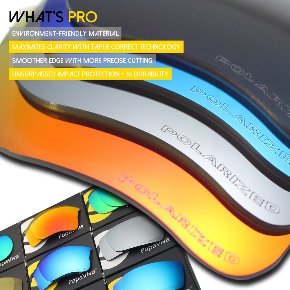 PapaViva Polycarbonate POLARIZED Replacement Lenses for Authentic Holbrook Sunglasses Multiple Options in Eyewear Accessories from Apparel Accessories