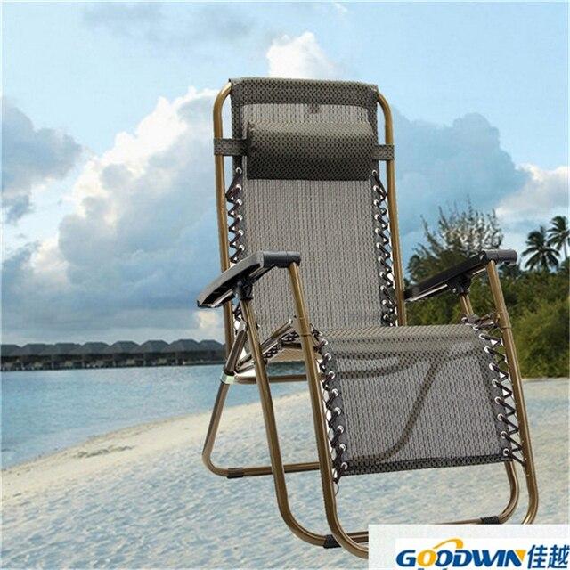 outdoor folding sun garden lounger recliner relax armrest chair