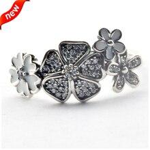 2016 europeo de primavera de la joyería Shimmering ramo anillos de plata con Clear CZ 100% 925 joyería de plata DIY venta al por mayor 08R079