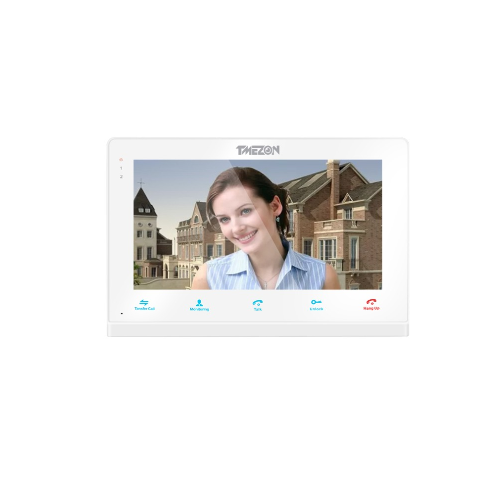Tmezon Video Door Phone System Single 7 TFT Indoor Monitor With TF Card Slot
