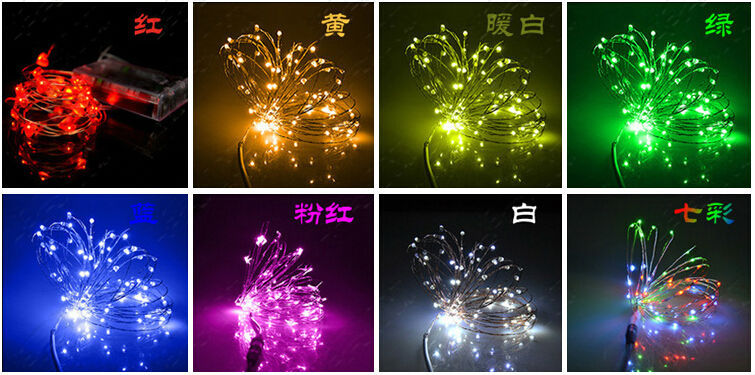 rgb self flash strobe 300cm battery powered operated christmas holiday mini led copper wire string lights 9 color option x300pcs in led string from lights