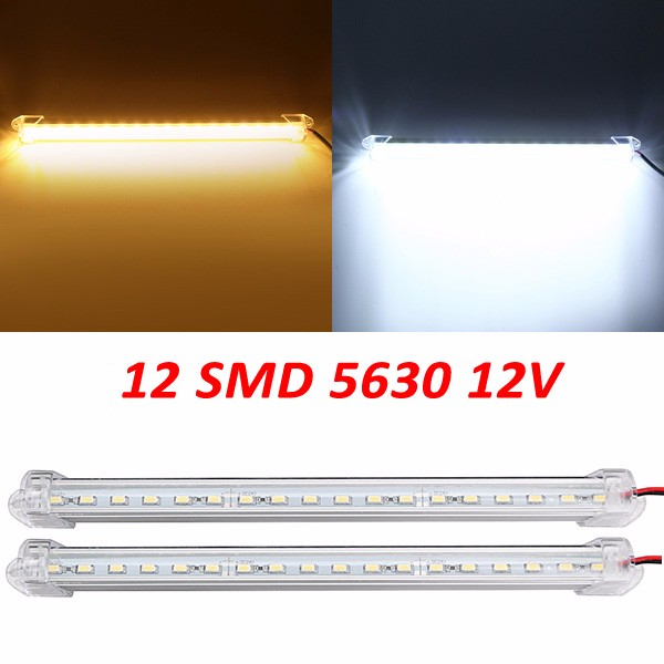 12V Pure White Warm White LED Light Modern Convenience 17cm 3W 600lm 12 SMD 5630 Waterproof IP44 LED Rigid Strip Cabinet Light