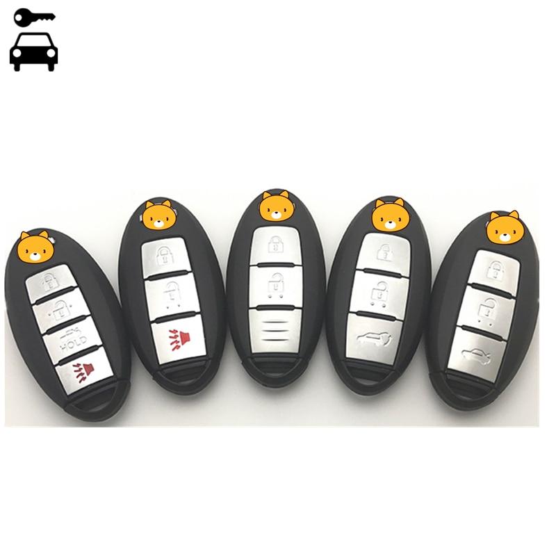 Auto Smart Card Keyless Chiave A Distanza per Nissan Altima TIIDA Maxima Soleggiato Qashqai X-Trail Murano Sentra Juke Patrol Car Remote chiave