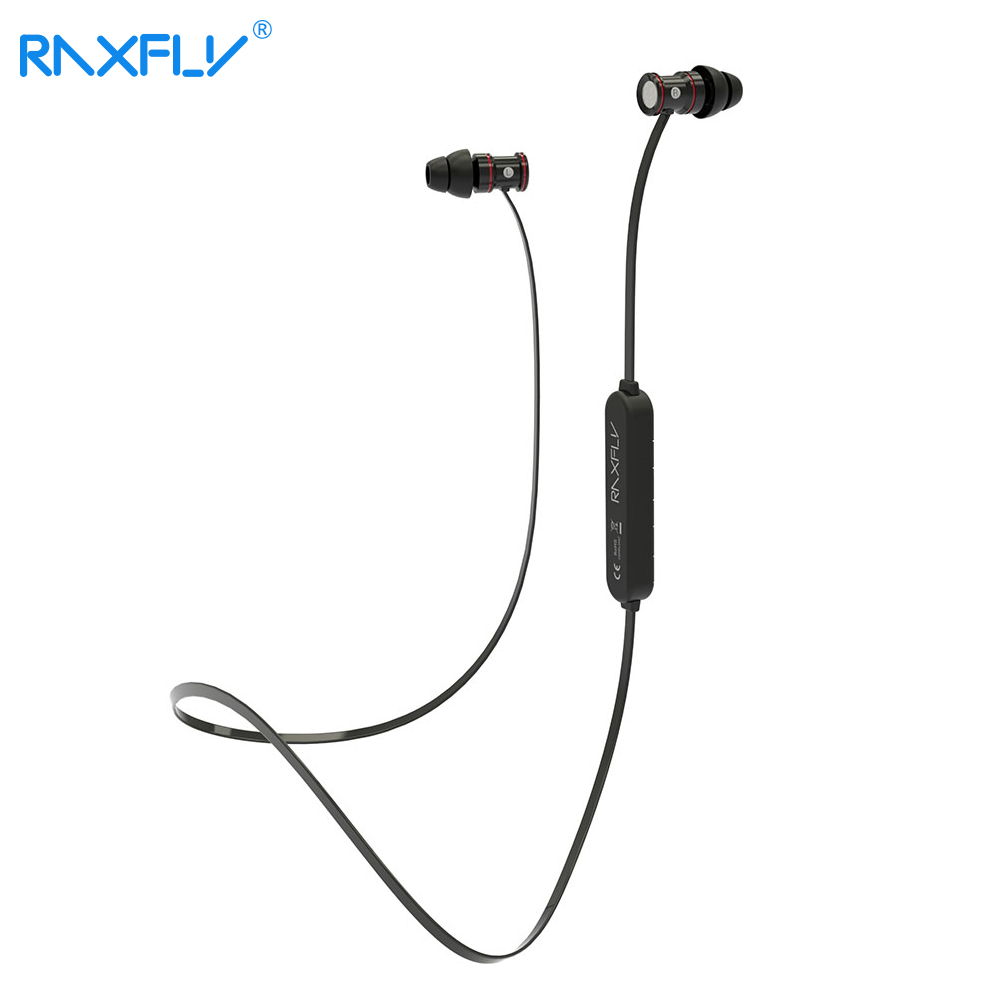 RAXFLY Bluetooth Earphone Stereo Noise Cancelling Wireless Earphones For iPhone Samsung Xiaomi Headset Microphone Headset Earbud mpow bluetooth stereo headphones wireless wired noise cancelling headset with microphone for iphone 8 7 6s xiaomi samsung huawei