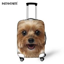 ФОТО INSTANTARTS Animal Yorkshire Dog Printed Luggage Protective Covers   Elastic Anti-stratch Luggage Case Dust Rain Covers