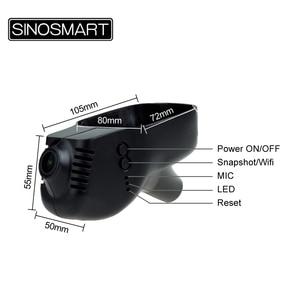 Image 5 - SINOSMART Novatek 96672 araba Wifi DVR için Volkswagen Polo/Passat/Touran/Tiguan/Bora/altın/magotan App tarafından kontrol SONY IMX323