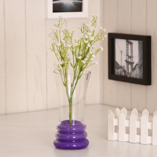 Transparent Glass Vase Flower Countertop Vase Fashion Brief Vase