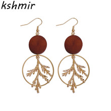 Simple retro literary branch wood earrings fashion new earring delicate pendant wholesale