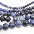 "4mm 6mm 8mm 10mm 12mm Natural Old Blue Sodalite Round Beads 15.5"" Pick Size Free Shipping-F00116"