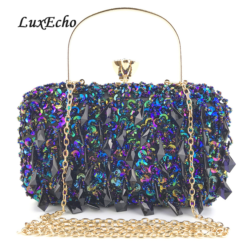 Day Clutches Party Shoulder-Bags Wedding-Purse Evening-Bags Women's New-Arrive Diamonds