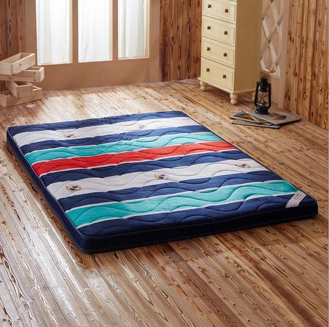 Fleece Quilted Sleeping Mattress Foldable Massage Quechua Memory Foam Twin Queen Size
