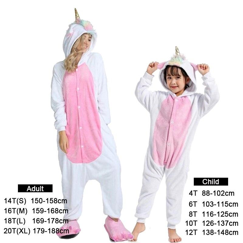 Kigurumi Onesie Kids Pijamas Unicorn Pajamas For Boys Girls Winter Animal Panda Pyjamas Women Sleepwear For Teen 4 6 8 10 Years