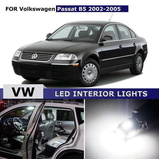 US $14 27 |10x For Volkswagen VW Passat B5 2002 2005 Canbus Car LED  Interior Light Bulbs Package Kit Car Map Dome Light License Plate Lamp-in  Car