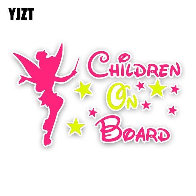 YJZT-petite fée voiture autocollant   15.6*9.6CM, pour la décoration de moto, joli autocollant de dessin animé pour enfants à bord,