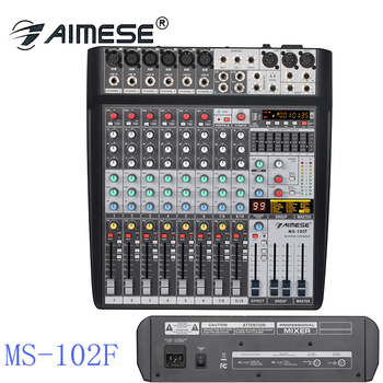 MS-102F professional audio consule 10 input channels and usb interface device of digital mixer 99 sdr performance of phase