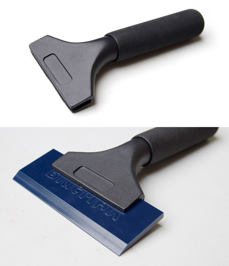 Image 3 - Blue Squeegee PRO Handle Water Wiper Vinyl Window Tint Glass Wrapping Car Tools QH 02B-in Car Stickers from Automobiles & Motorcycles