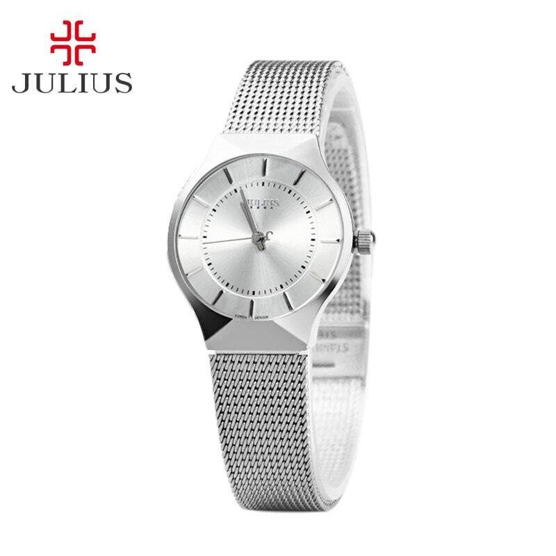 Prix pour Femmes Lady mince montre Julius Quartz heures meilleur mode robe classique OL Bracelet acier amant fille d'anniversaire cadeau JA-577