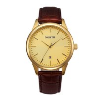Luxury Gold Men Watches North Brand Classic Unique Minimalism Waterproof Business Casual Quartz Golden Men Wristwatch