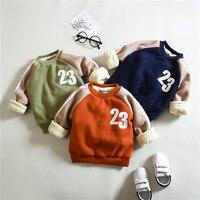 Yong mais Casaco de Inverno do Velo do bebê gola de Manga Longa Roupas de Bebê Roupas de gola alta Roupas de inverno Sweater Coats para 1-3 anos