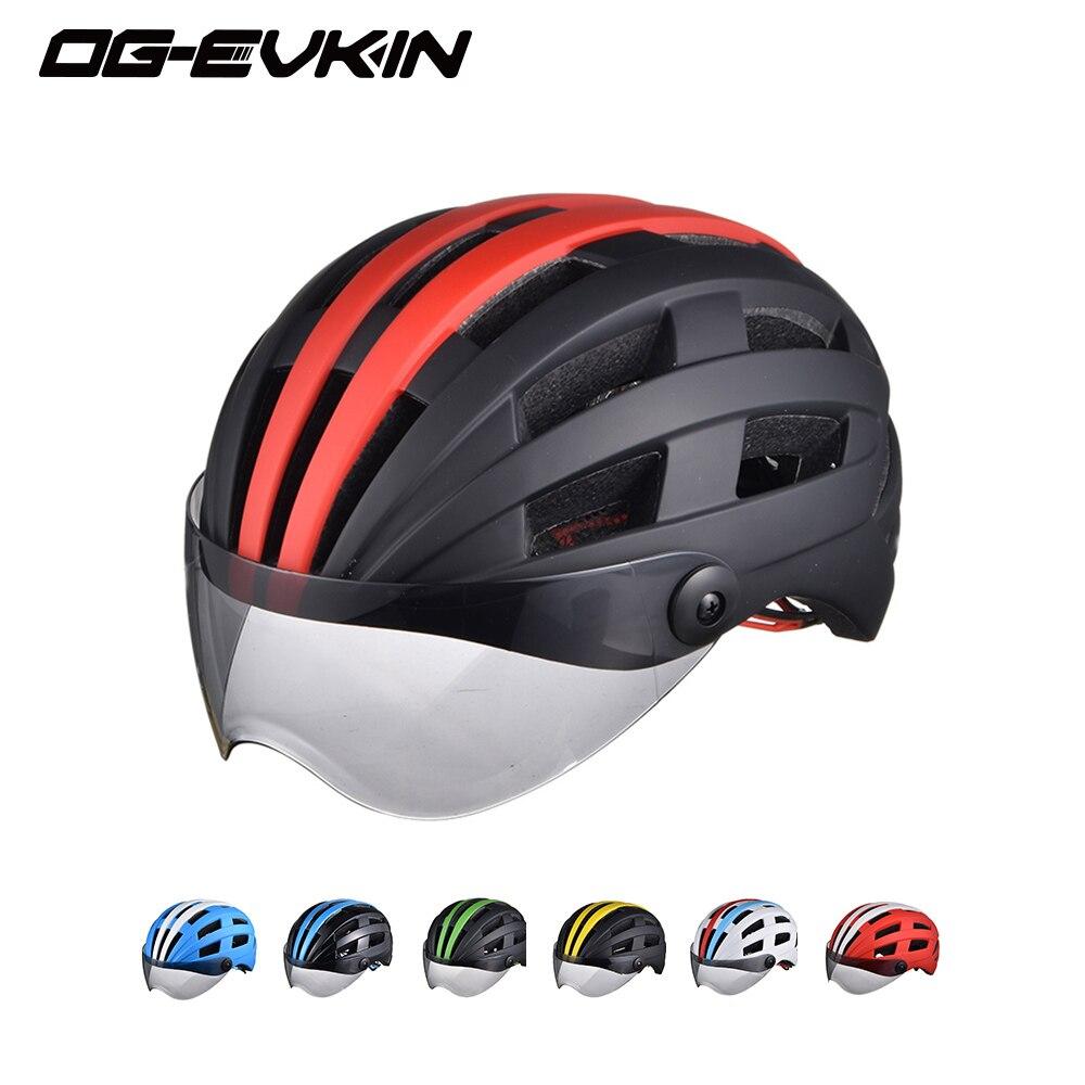 OG-EVKIN Super Licht Männer Frauen Radfahren Helm Mit Objektiv Rennrad Mountainbike Helm Sicherheit Nachtlicht Bicicleta Ciclismo