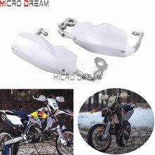 Handguards brancos 22/28mm Escudo Protetor de Mão Motocross Da Bicicleta Da Sujeira Supermoto Enduro Universal Para Husqvarna TE/FE /TC/TS 125/300