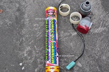 Freeshipping 4 Atirar Máquina De Confetes Elétrica Dmx512 Controle 4 Canais Apoio Individual Tiro Display Lcd Boa Qualidade