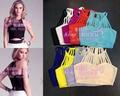 Atacado New Tops 9 cores Sexy Estiramento Moda com Arnês colete/Bandage Tops