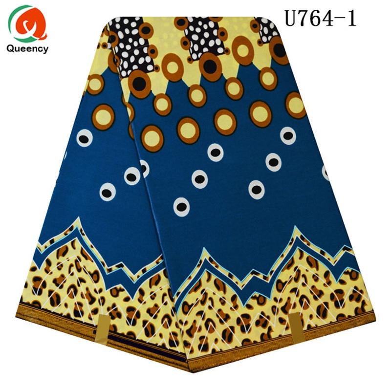 Free shipping Queency African Ankara New Arrivals 6 yards per piece Cotton Wax Fabtic U764 784