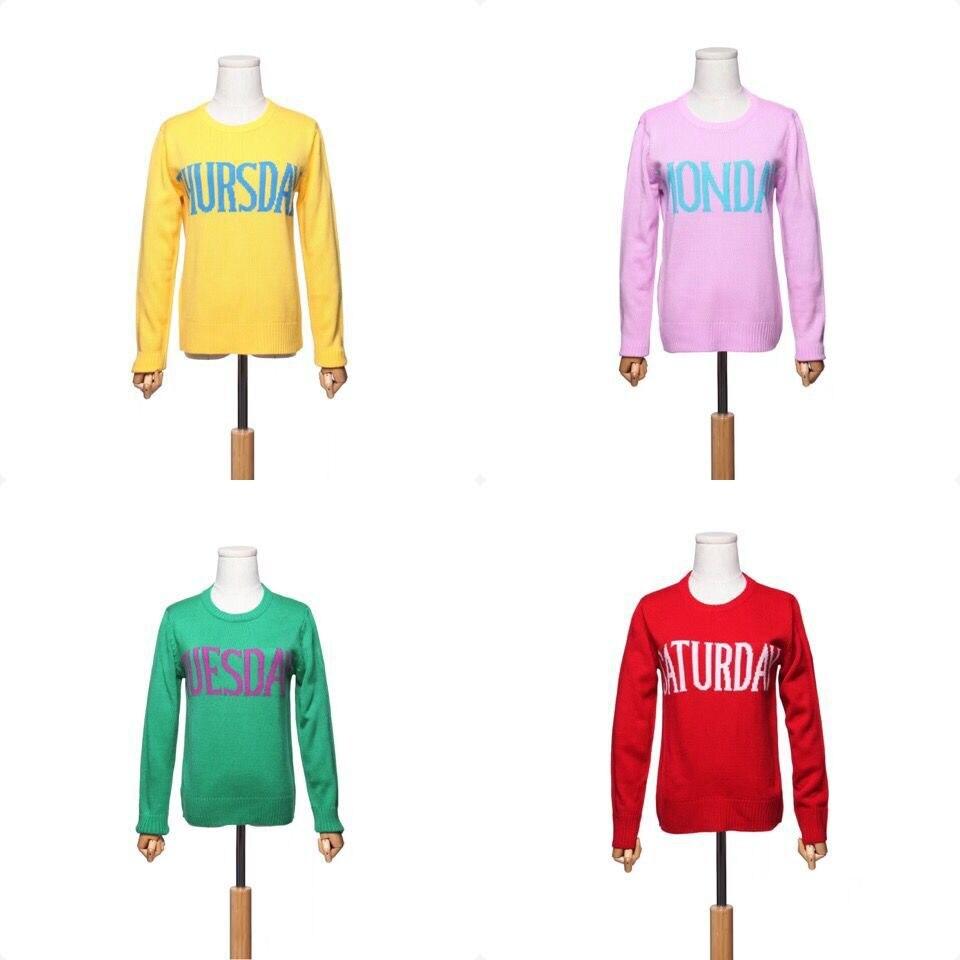 Nueva primavera otoño una semana carta patrones tejer suéter mujeres ...
