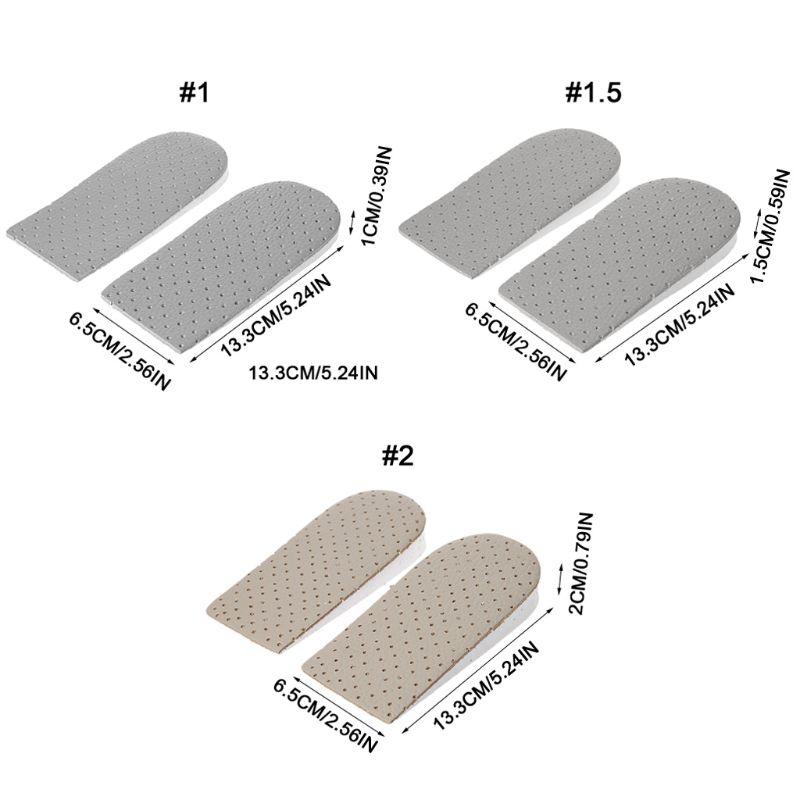 1 Paar Erhöhung Einlegesohle Lift Pads Ferse Unterstützung Orthopädische Elastische Shock Proof Eva Schaum Atmungs Höhe Kissen Unisex