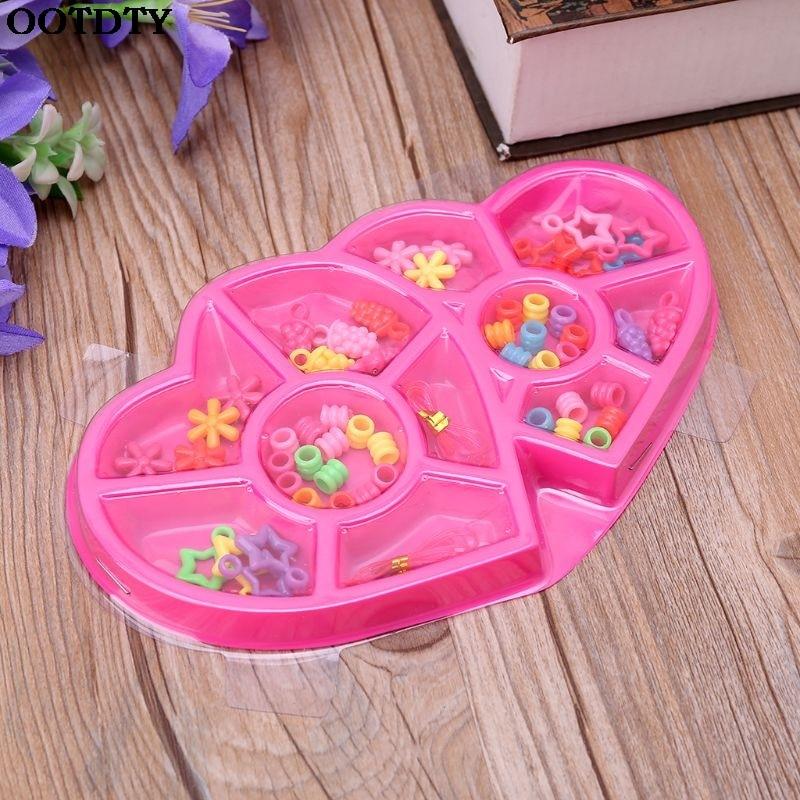 1 Box Mixed Kinder Diy Perlen Set Für Schmuck Kette, Der Zubehör Handwerk Kinder Pädagogisches Spielzeug